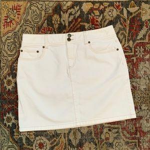 LOFT Stretch Denim Mini Skirt